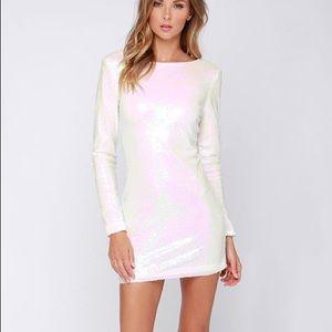 Glamorous ❄️Let It ❄️ Iridescent Sequin Dress